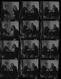 William de l'Aigle Buchan, 3rd Baron Tweedsmuir; Hon. Perdita Caroline Connolly (née Buchan), by Francis Goodman, November 1965 - NPG x195427 - © National Portrait Gallery, London