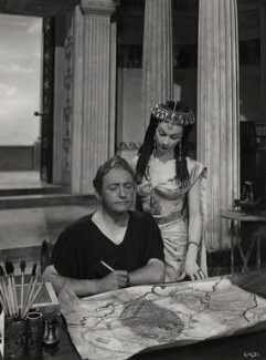 Vivien Leigh as Cleopatra; Claude Rains as Julius Caesar in 'Caesar and Cleopatra', by Wilfrid Newton - NPG x137519