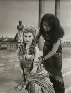 Vivien Leigh as Cleopatra; Flora Robson as Ftatateeta in 'Caesar and Cleopatra', by Wilfrid Newton - NPG x137520