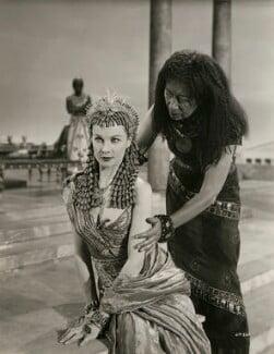 Vivien Leigh as Cleopatra; Flora Robson as Ftatateeta in 'Caesar and Cleopatra', by Wilfrid Newton - NPG x137520