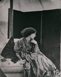 Jane Morris (née Burden), by John Robert Parsons, copied by  Emery Walker Ltd, July 1865 - NPG x137525 - © National Portrait Gallery, London