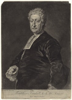 Matthew Tindal, by and sold by John Faber Jr, after  Bartholomew Dandridge - NPG D42853