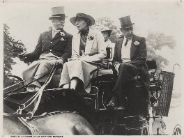 Bertram Wagstaff Mills; Dame Laura Knight with two unknown others, by Unknown photographer - NPG x137560