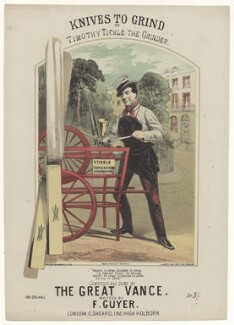 Alfred Glenville Vance (Alfred Peck Stevens), by Richard Childs, printed by  J. Hardy, published by  Charles Sheard, after  Hobcraft - NPG D42767