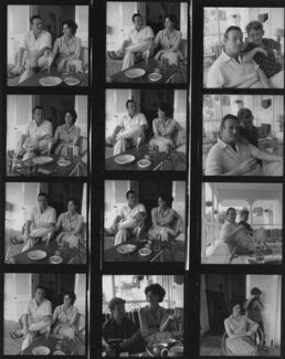 (Cyril) Wolf Mankowitz; Ann Margaret Mankowitz (née Seligmann); Daniel Mankowitz, by Francis Goodman - NPG x195494