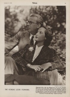 Alexander Korda; Merle Oberon, by Alexander Paal, published 10 January 1940 - NPG x137586 - © National Portrait Gallery, London