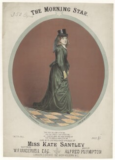 Kate Santley, by Richard Childs, printed by  J. Hardy, published by  Charles Sheard - NPG D42775