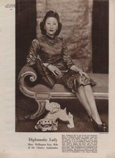 Madame Wellington Koo (née Hui-lan Oei), by Bertram Park - NPG x137592