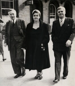 Harold Wilson; Aneurin Bevan; Jennie Lee, by Planet News, 27 September 1954 - NPG x184222 - © reserved; collection National Portrait Gallery, London