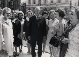 Sir Edward Heath with women MPs, including Margaret Thatcher, Baroness Thatcher of Kesteven, by Keystone Press Agency Ltd - NPG x137601