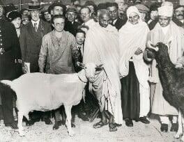 Mahatma Gandhi, by Keystone Press Agency Ltd, 24 October 1931 - NPG x137613 - © National Portrait Gallery, London