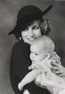 Diana, Princess of Wales; Prince Harry, by Lord Snowdon - NPG P1869