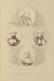 Sir John Morris; Edwin John Hayes; Henry Underhill; John Joseph Powell, by Robert White Thrupp, published by  Edward Roden - NPG Ax137692