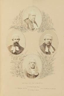 Sir John Morris; Edwin John Hayes; Henry Underhill; John Joseph Powell, by Robert White Thrupp, published by  Edward Roden - NPG Ax137692