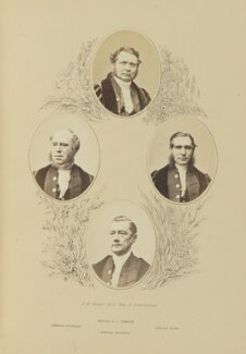 George Lees Underhill; Moses Ironmonger; Henry Hartley Fowler, 1st Viscount Wolverhampton; John Hawksford, by Robert White Thrupp, published by  Edward Roden - NPG Ax137693