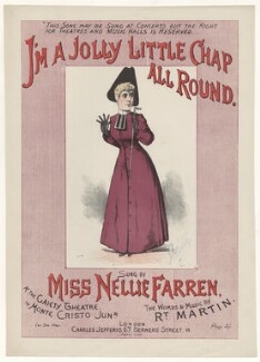 Ellen ('Nellie') Farren, printed by Stannard & Son, published by  Charles Jefferys - NPG D42781