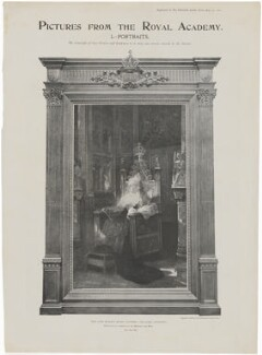 Queen Victoria, printed by Strand Engraving Company Ltd, published by  Illustrated London News, after  Jean Joseph Benjamin-Constant - NPG D42865