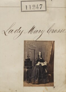 Lady Mary Crosse (née Stewart), by Camille Silvy - NPG Ax60942