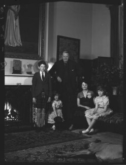1st Baron Killearn and family, by Navana Vandyk, 15 January 1953 - NPG x98775 - © National Portrait Gallery, London