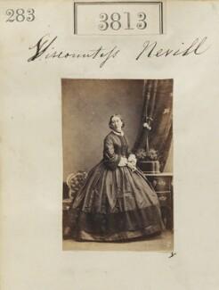 Caroline (née Vanden-Bempde-Johnstone), Marchioness of Abergavenny when Viscountess Nevill, by Camille Silvy, 22 May 1861 - NPG Ax53204 - © National Portrait Gallery, London