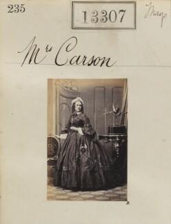Sarah Marriott Carson, by Camille Silvy - NPG Ax62940