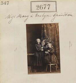 Mary Green (née Grimston); Evelyn Horatia Pryor (née Grimston), by Camille Silvy - NPG Ax52066