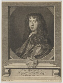 Roger North, by George Vertue, after  Sir Peter Lely - NPG D42866
