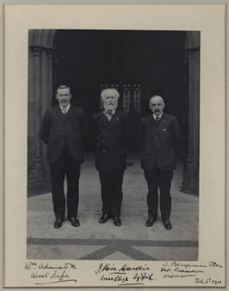 William Adamson; Keir Hardie; Thomas Richardson, by Benjamin Stone - NPG x137724