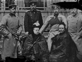 Royal group including Queen Victoria and Wilhelm II, Emperor of Germany and King of Prussia, by Walter Stoneman, copied January 1948 (April 1894) - NPG x189248 - © National Portrait Gallery, London