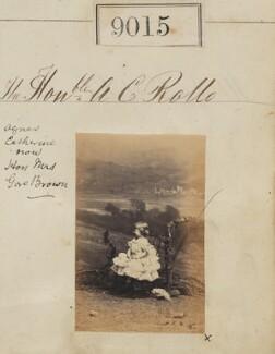 Hon. Agnes Catharine Gore Browne (née Rollo), by Camille Silvy - NPG Ax58839