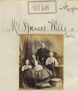'Mrs Spencer Wells & family', by Camille Silvy - NPG Ax59447