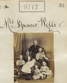 'Mrs Spencer Wells & family', by Camille Silvy - NPG Ax59448