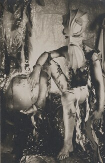 Angus McBean in costume as 'Neptune' for the Old Vic Ball, by Angus McBean - NPG Ax183846