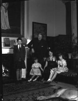 1st Baron Killearn and family, by Navana Vandyk, 15 January 1953 - NPG x98776 - © National Portrait Gallery, London
