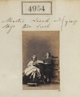 John Charles Warrington Leech; Ada Rose Gillett (née Leech), by Camille Silvy - NPG Ax54962