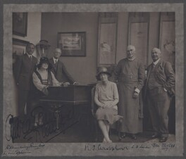 Group including Dame Clara Ellen Butt, Robert Henry Kennerley-Rumford, Benjamin Grey ('Ben') Davies, by (Mary) Olive Edis (Mrs Galsworthy), circa 1920 - NPG x137799 - © National Portrait Gallery, London