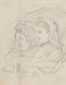 Two unknown sitters, by Sebastian Evans - NPG 2173(40)