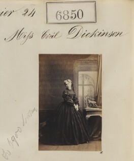 Probably Cecil (née Geils, later Dickinson), Marquesa del Moral, by Camille Silvy - NPG Ax56773