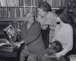 Michael Balcon; (April) Aileen Freda Balcon (née Leatherman), Lady Balcon; Tamasin Day-Lewis, by Chris Ware, for  Keystone Press Agency Ltd - NPG x184226
