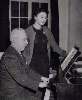 Sir Arthur Bliss; Adele Leigh, by Keystone Press Agency Ltd - NPG x184237