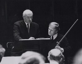Sir Adrian Boult; Yehudi Menuhin, by Fox Photos Ltd - NPG x184255
