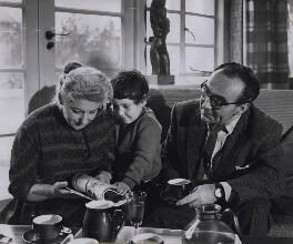Rita Bronowski (née Coblentz); Clare Bronowski; Jacob Bronowski, by David Farrell - NPG x184266