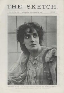 Mrs Patrick Campbell, by Frederick Hollyer - NPG x137823