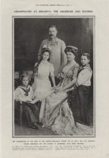 Franz Ferdinand, Archduke of Austria-Este with his family, by Adèle - NPG x137825
