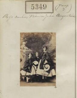 Amelia M.A. Angerstein; Julia Augusta Kendall (née Angerstein); Frederica Caroline Burton (née Angerstein), by Camille Silvy - NPG Ax55309