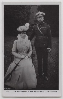 Queen Mary; King George V, by David Knights-Whittome, published by  Rotary Photographic Co Ltd - NPG x137828
