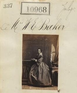 Frances Gertrude (née Duncan), Lady Baker, by Camille Silvy - NPG Ax60674