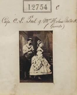 Probably Elizabeth Mary Baldock (née Corbet); Cecil Lennox Peel, by Camille Silvy - NPG Ax62397