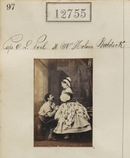 Probably Elizabeth Mary Baldock (née Corbet); Cecil Lennox Peel, by Camille Silvy - NPG Ax62398