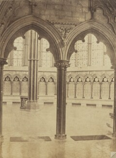 'The Chapter House, Salisbury', by Unknown photographer - NPG Ax137921